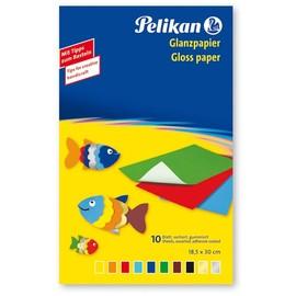 Glanzpapier Mappe gummiert 232M/10 30x18cm sortiert Pelikan 137935 (ST=10 BLATT) Produktbild