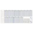 Urlaubsplaner 2021 für 35 Personen 100x42cm 15Monate/1Seite grau/blau Zettler 993-0000 Produktbild