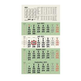 Viermonatskalender 2021 33x63,5cm grün Zettler 959-0700 Produktbild