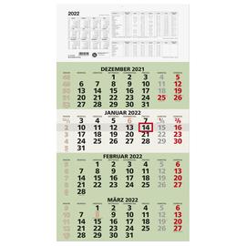 Viermonatskalender 2022 33x63,5cm grün Zettler 959-0700 Produktbild