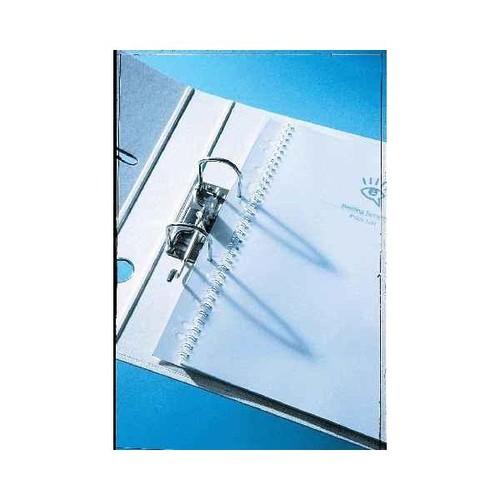 Abheftstreifen für Draht+Plastik FileStrips 21-Löcher transparent PVC GBC IB410215 (PACK=100 STÜCK) Produktbild Front View L