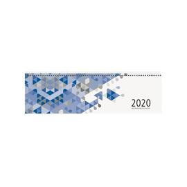 Querkalender 2020 36x10,5cm 1Woche/2Seiten blau Spiralbindung Zettler 136-0015 Produktbild