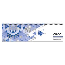Querkalender 2022 36x10,5cm 1Woche/2Seiten blau Spiralbindung Zettler 136-0015 Produktbild