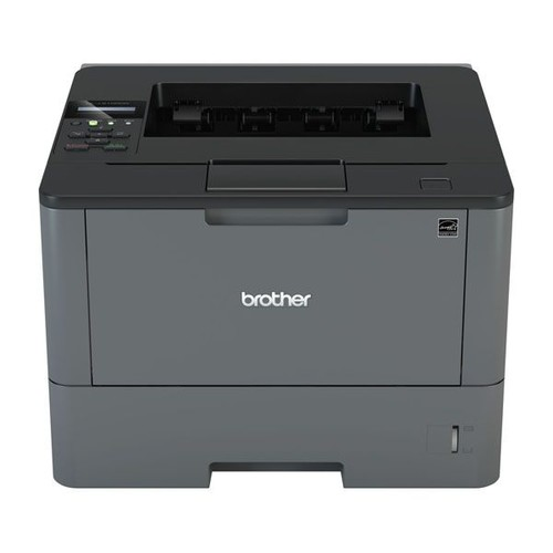 Brother HL-L5100DN mit LAN-/USB-Schnitt- stelle A4 S/W Laserdrucker inkl. UHG 250 Blatt Papierkassette Produktbild Front View L