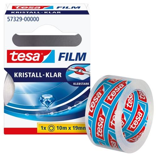 Klebefilm Kristall-klar 19mm x 10m transparent klar Tesa 57329-00000-2 (RLL=10 METER) Produktbild
