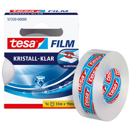 Klebefilm Kristall-klar 19mm x 33m transparent klar Tesa 57330-00000-02 (RLL=33 METER) Produktbild