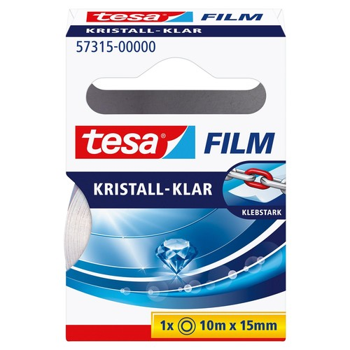 Klebefilm Kristall-klar 15mm x 10m transparent klar Tesa 57315-00000-01 (RLL=10 METER) Produktbild