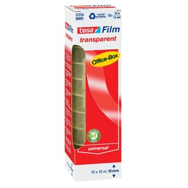 Klebefilm Transparent 15mm x 10m transparent Tesa 57370-00002-02 (PACK=10 ROLLEN) Produktbild