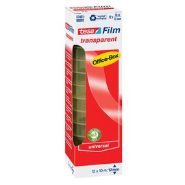 Klebefilm Transparent 12mm x 10m transparent Tesa 57401-00002-02 (PACK=12 ROLLEN) Produktbild