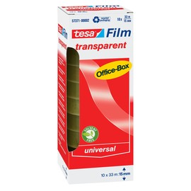 Klebefilm Transparent 15mm x 33m transparent Tesa 57371-00002-00 (PACK=10 ROLLEN) Produktbild