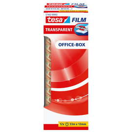 Klebefilm Transparent 12mm x 33m transparent Tesa 57402-00002-00 (PACK=12 ROLLEN) Produktbild