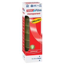 Klebefilm Transparent 19mm x 10m transparent Tesa 57404-00002-02 (PACK=8 ROLLEN) Produktbild