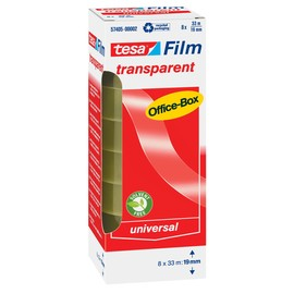 Klebefilm Transparent 19mm x 33m transparent Tesa 57405-00002-00 (PACK=8 ROLLEN) Produktbild
