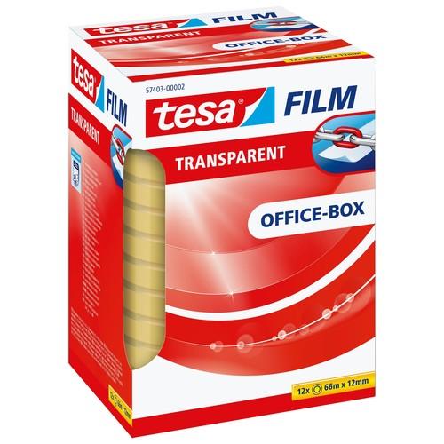 Klebefilm Transparent 12mm x 66m transparent Tesa 57403-00002-00 (PACK=12 ROLLEN) Produktbild Additional View 1 L