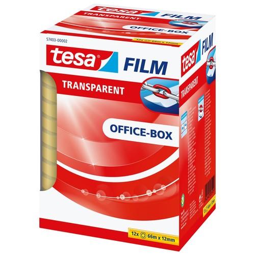 Klebefilm Transparent 12mm x 66m transparent Tesa 57403-00002-00 (PACK=12 ROLLEN) Produktbild Additional View 2 L