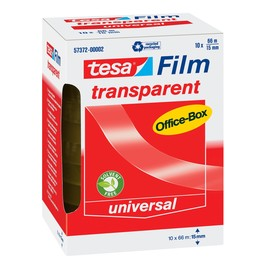 Klebefilm Transparent 15mm x 66m transparent Tesa 57372-00002-00 (PACK=10 ROLLEN) Produktbild