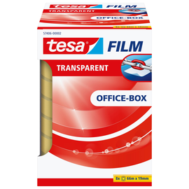 Klebefilm Transparent 19mm x 66m transparent Tesa 57406-00002-00 (PACK=8 ROLLEN) Produktbild