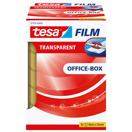 Klebefilm Transparent 25mm x 66m transparent Tesa 57379-00002-00 (PACK=6 ROLLEN) Produktbild