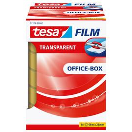 Klebefilm Transparent 25mm x 66m transparent Tesa 57379-00002-00 (PACK=6 ROLLEN) Produktbild