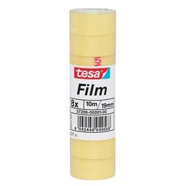 Klebefilm Standard 19mm x 10m transparent Tesa 57206-00001-00 (PACK=8 ROLLEN) Produktbild
