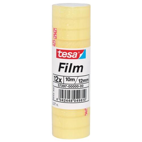 Klebefilm Standard 12mm x 10m transparent Tesa 57397-00000-00 (PACK=12 ROLLEN) Produktbild Front View L