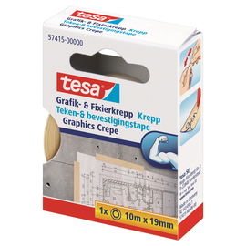 Klebeband Grafik- und Fixierkrepp 19mm x 10m chamois Tesa 57415-00000-01 (RLL=10 METER) Produktbild