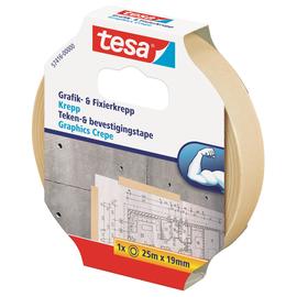 Klebeband Grafik- und Fixierkrepp 19mm x 25m chamois Tesa 57416-00000-02 (RLL=25 METER) Produktbild