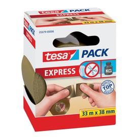 Klebeband Tesapack Express 38mm x 33m braun PVC von Hand einreißbar Tesa 05079-00006-00 (RLL=33 METER) Produktbild