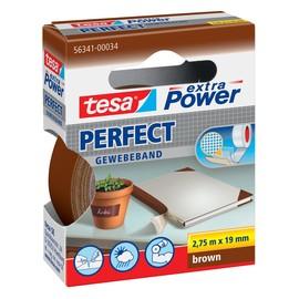 Gewebeband extra Power Perfect 19mm x 2,75m braun Tesa 56341-00034-02 (RLL=33 METER) Produktbild