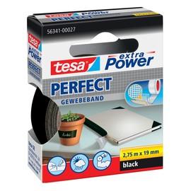 Gewebeband extra Power Perfect 19mm x 2,75m schwarz Tesa 56341-00027-2 (RLL=2,75 METER) Produktbild