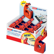 Handabroller Easy Cut leer füllbar bis 19mm x 10m rot/blau Tesa 57443-00001-00 Produktbild Additional View 1 S