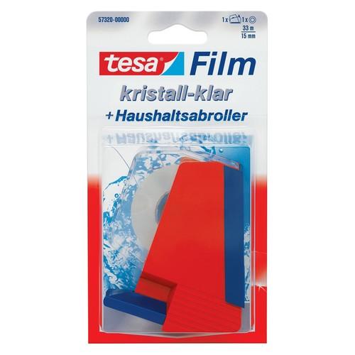 Haushaltsabroller füllbar bis 19mm x 33m rot/blau Tesa 57320-00000-01 Produktbild Front View L