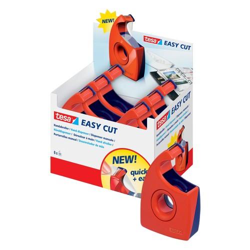 Handabroller Easy Cut leer füllbar bis 19mm x 33m rot/blau Tesa 57444-00001-00 Produktbild Additional View 1 L