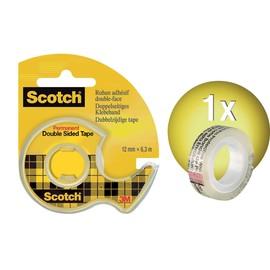 Handabroller Scotch + 1Rolle Doppelband 665 füllbar bis 12mm x 6,3m transparent 3M 665H1263 Produktbild