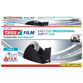 Tischabroller Easy Cut leer füllbar bis 19mm x 33m schwarz Tesa 57421-00001-02 Produktbild