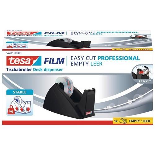 Tischabroller Easy Cut leer füllbar bis 19mm x 33m schwarz Tesa 57421-00001-02 Produktbild Front View L