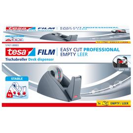 Tischabroller Easy Cut leer füllbar bis 19mm x 33m grau Tesa 57421-00003-01 Produktbild