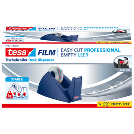 Tischabroller Easy Cut leer füllbar bis 19mm x 33m royalblau Tesa 57421-00002-02 Produktbild