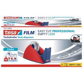 Tischabroller Easy Cut leer füllbar bis 19mm x 33m rot/blau Tesa 57421-00000-02 Produktbild