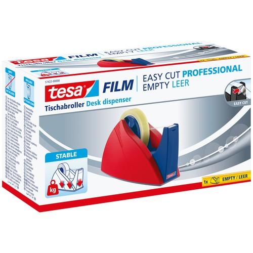 Tischabroller Easy Cut leer füllbar bis 25mm x 66m rot/blau Tesa 57422-00000-02 Produktbild Additional View 1 L