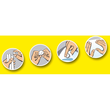 Klebepads patafix gelb wiederablösbar wiederverwendbar UHU 50140 (PACK=80 STÜCK) Produktbild Additional View 1 S