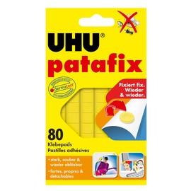 Klebepads patafix gelb wiederablösbar wiederverwendbar UHU 50140 (PACK=80 STÜCK) Produktbild
