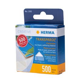 Foto-Ecken Transparol im Kartonspender selbstklebend Herma 1383 (PACK=500 STÜCK) Produktbild