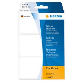 Adress-Etiketten für Handbeschriftung 95x48mm weiß Herma 4301 (PACK=250 STÜCK) Produktbild