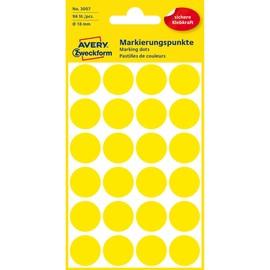 Markierungspunkte 18mm ø gelb Zweckform 3007 (PACK=96 STÜCK) Produktbild