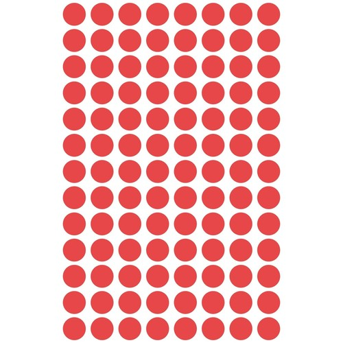 Markierungspunkte 8mm ø rot Zweckform 3010 (PACK=416 STÜCK) Produktbild Additional View 1 L