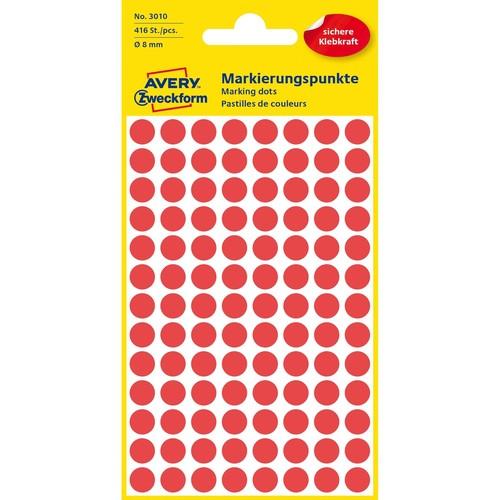 Markierungspunkte 8mm ø rot Zweckform 3010 (PACK=416 STÜCK) Produktbild