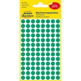 Markierungspunkte 8mm ø grün Zweckform 3012 (PACK=416 STÜCK) Produktbild