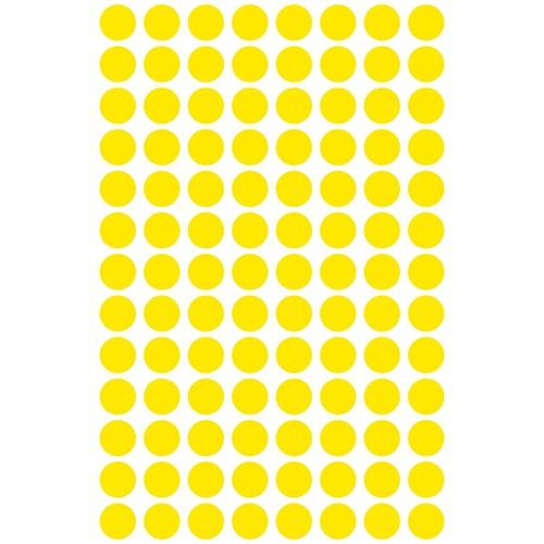 Markierungspunkte 8mm ø gelb Zweckform 3013 (PACK=416 STÜCK) Produktbild Additional View 1 L