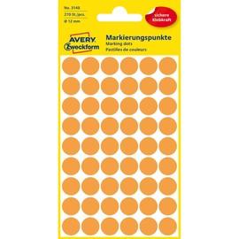 Markierungspunkte 12mm ø leuchtorange Zweckform 3148 (PACK=270 STÜCK) Produktbild